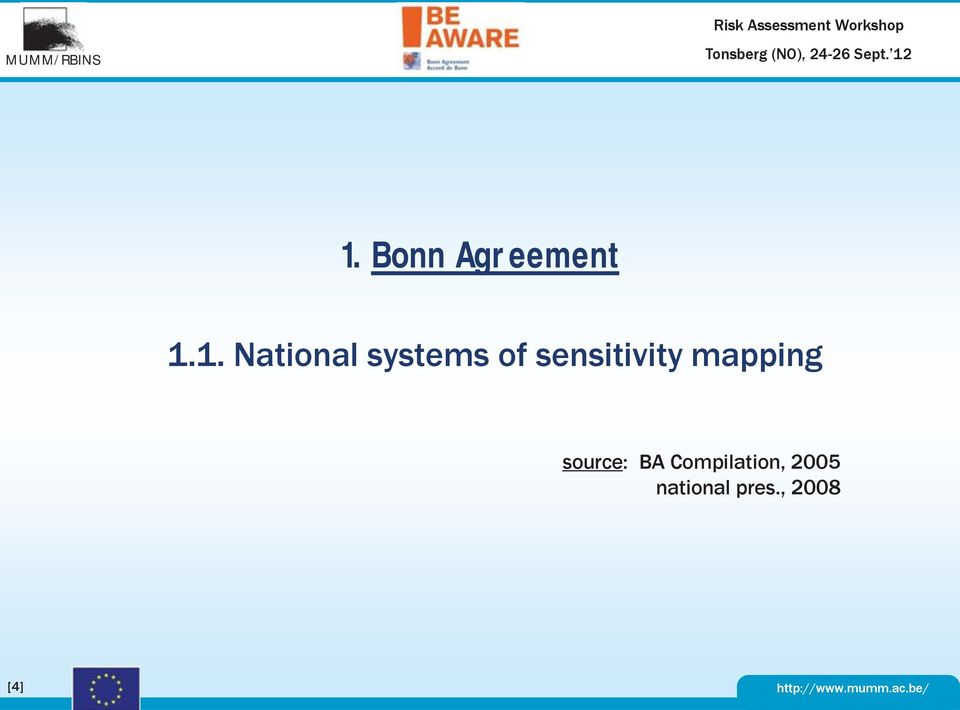 1. National systems of sensitivity