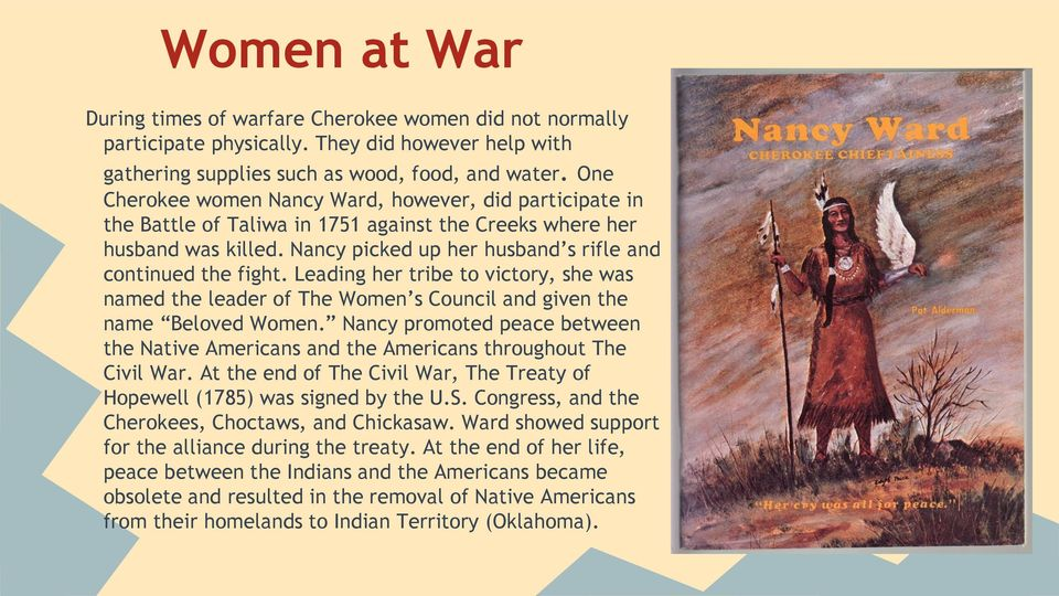 Leading her tribe to victory, she was named the leader of The Women s Council and given the name Beloved Women.