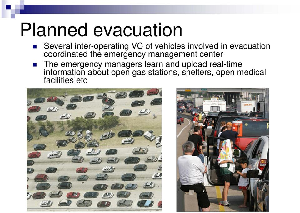 center The emergency managers learn and upload real-time