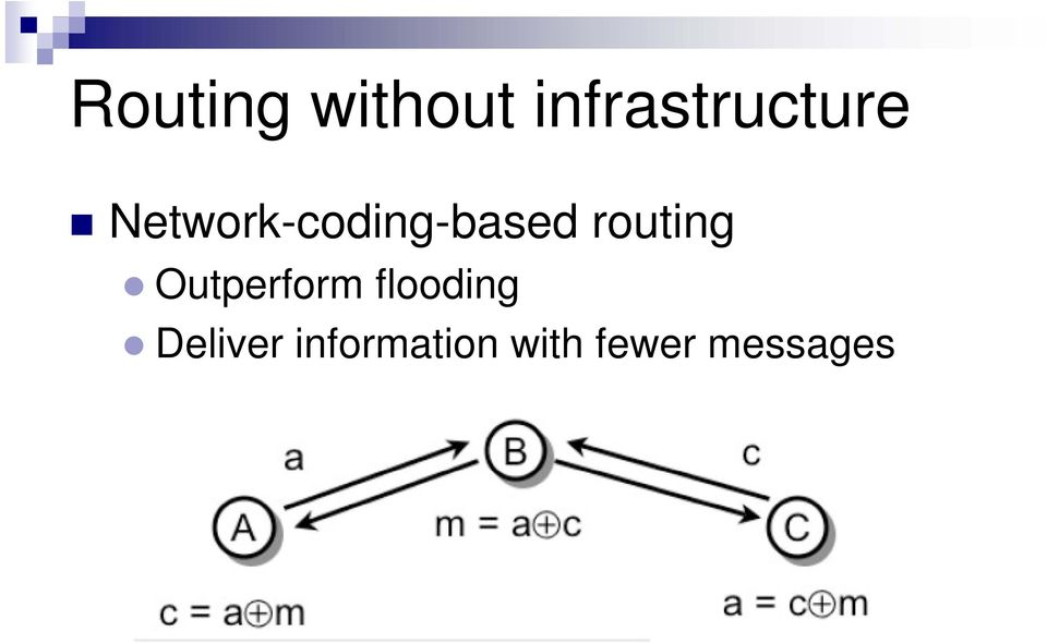 Network-coding-based routing