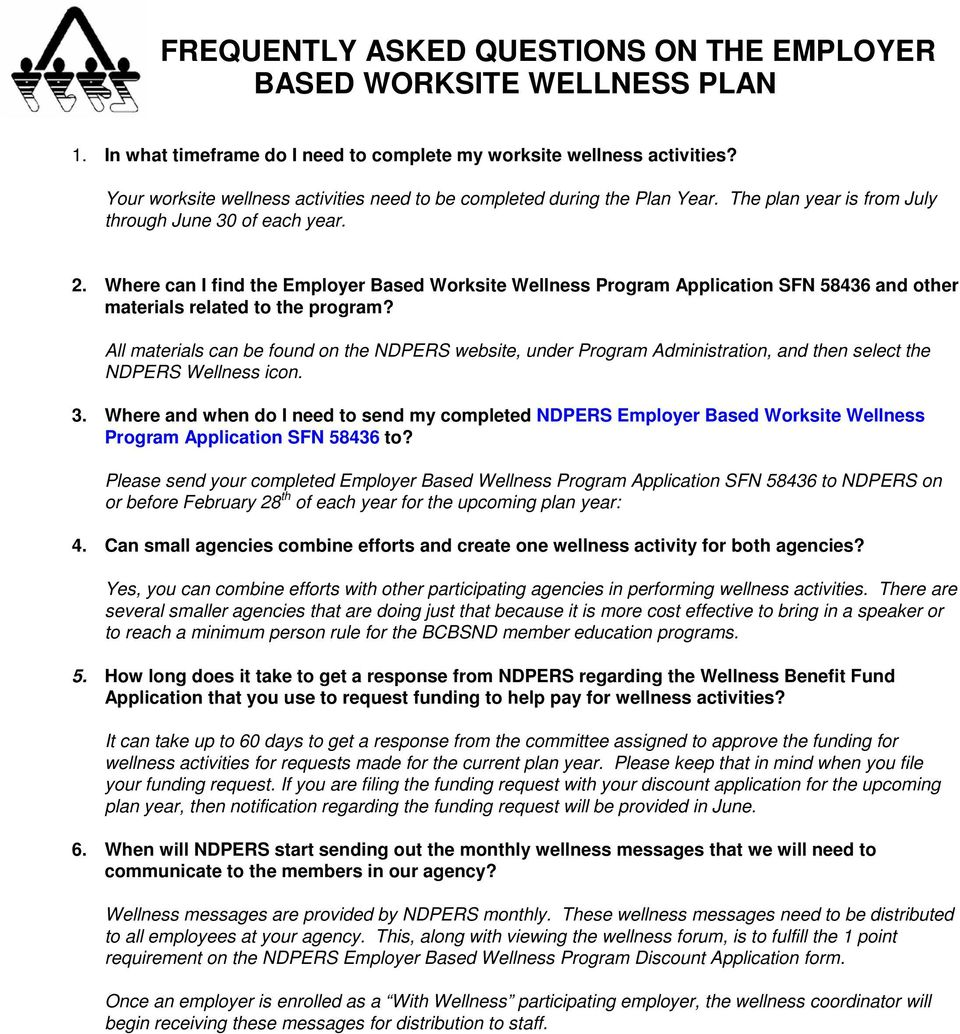 Where can I find the Employer Based Worksite Wellness Program Application SFN 58436 and other materials related to the program?
