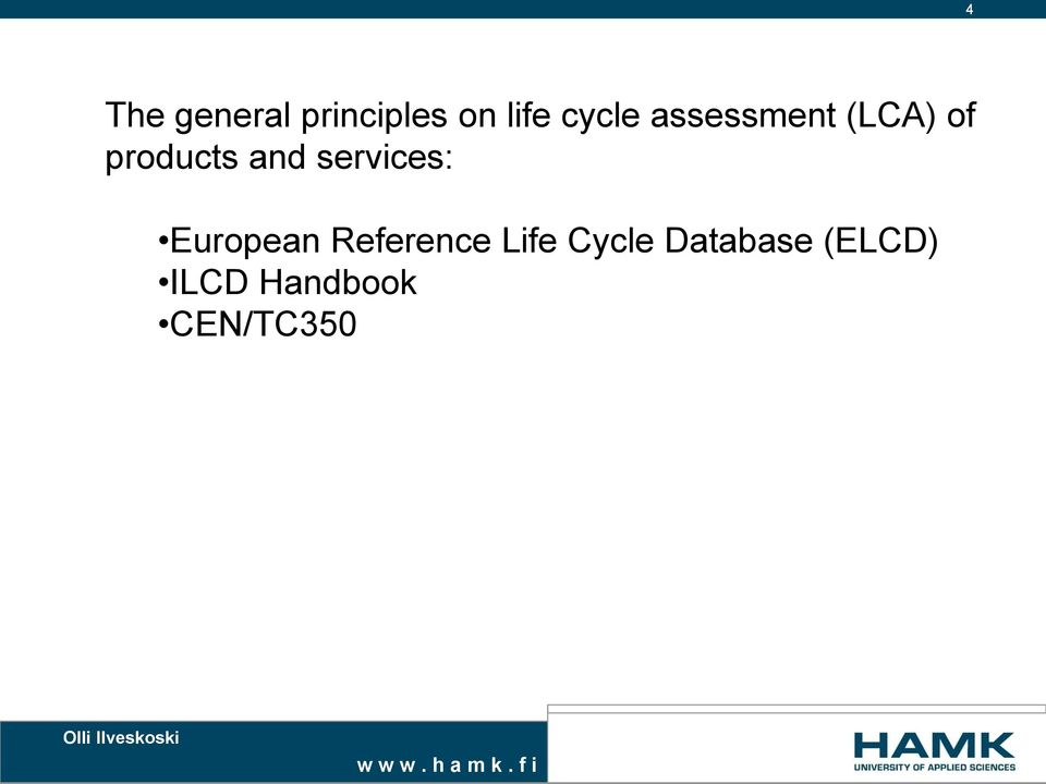 and services: European Reference Life