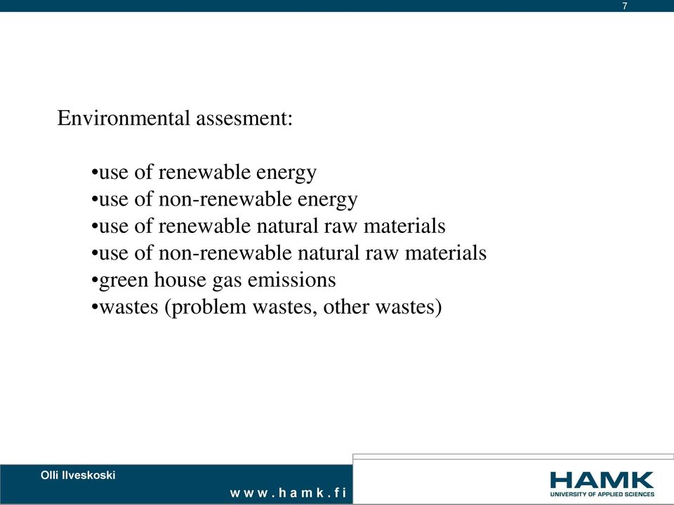 materials use of non-renewable natural raw materials