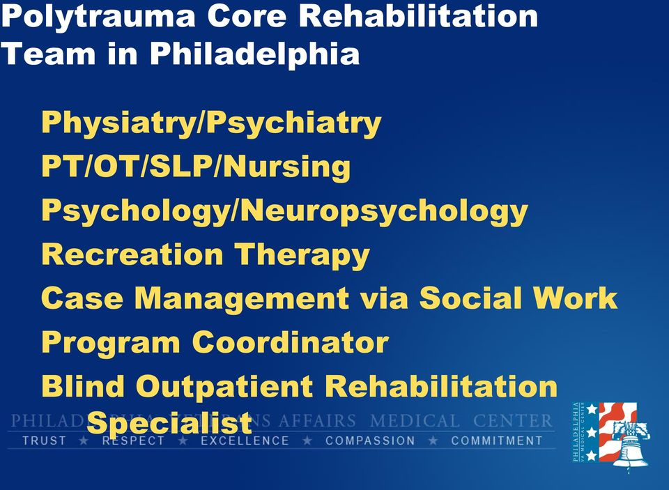 Psychology/Neuropsychology Recreation Therapy Case