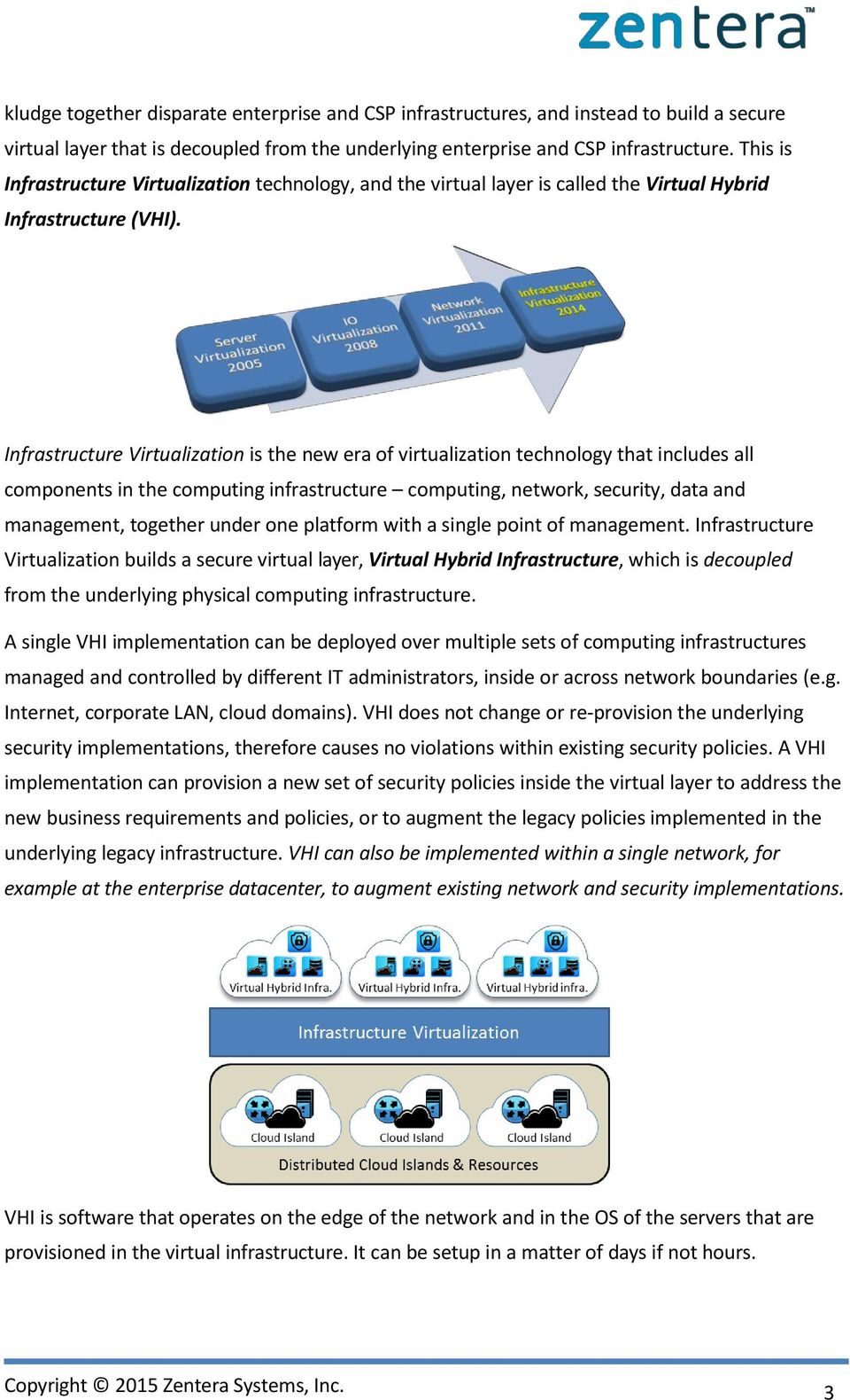 Infrastructure Virtualization is the new era of virtualization technology that includes all components in the computing infrastructure computing, network, security, data and management, together