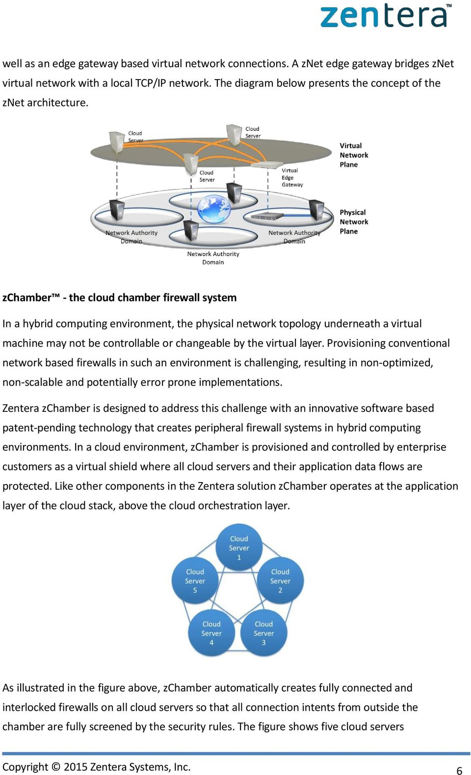 zchamber - the cloud chamber firewall system In a hybrid computing environment, the physical network topology underneath a virtual machine may not be controllable or changeable by the virtual layer.
