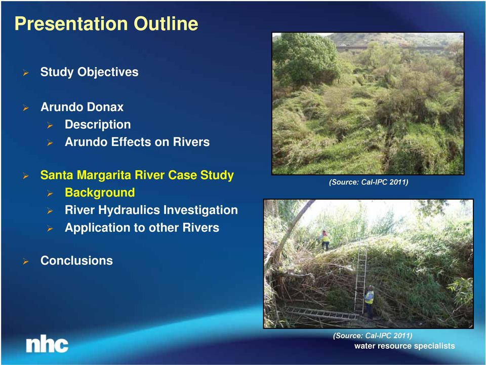 Case Study Background River Hydraulics Investigation