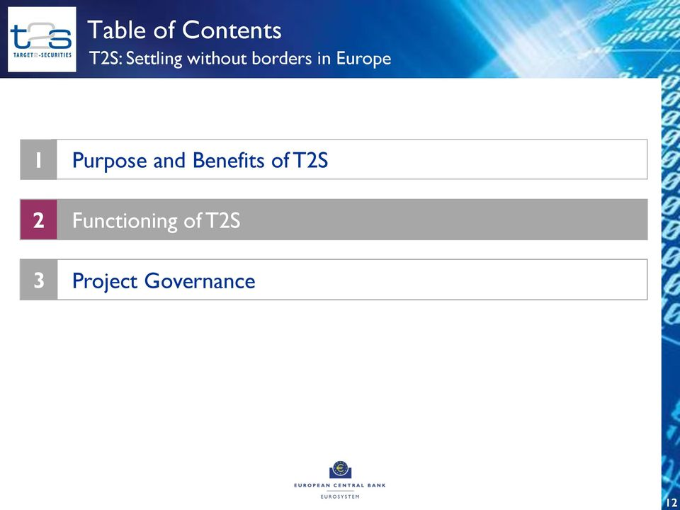 Europe 1 2 3 Purpose and