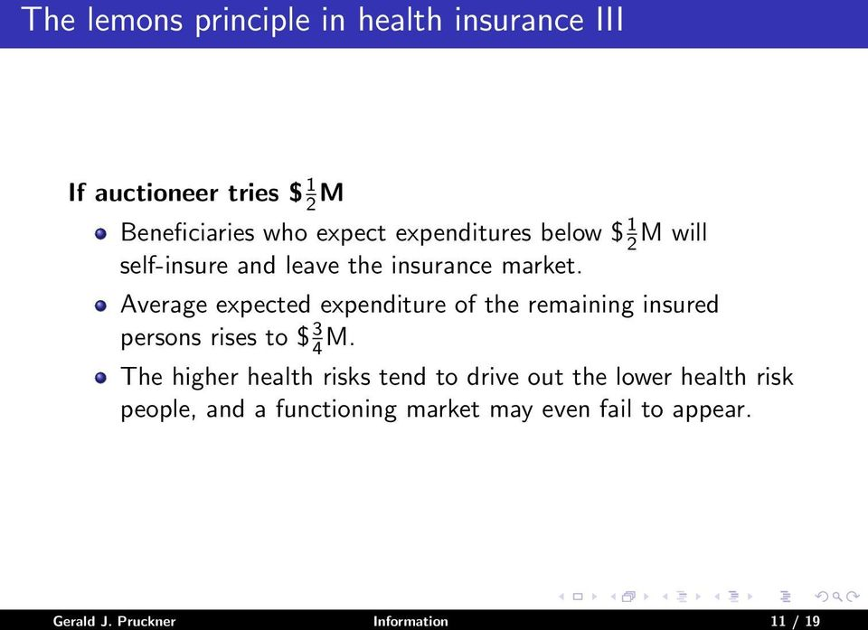 Average expected expenditure of the remaining insured persons rises to $ 3 4 M.