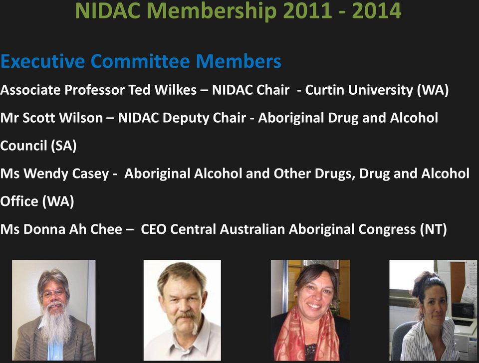 Drug and Alcohol Council (SA) Ms Wendy Casey - Aboriginal Alcohol and Other Drugs,