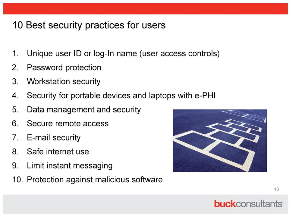 Workstation security 4. Security for portable devices and laptops with e-phi 5.