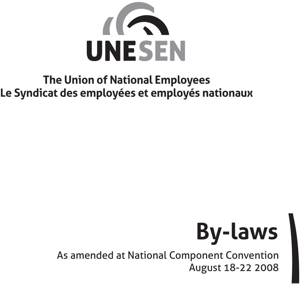 nationaux By-laws As amended at
