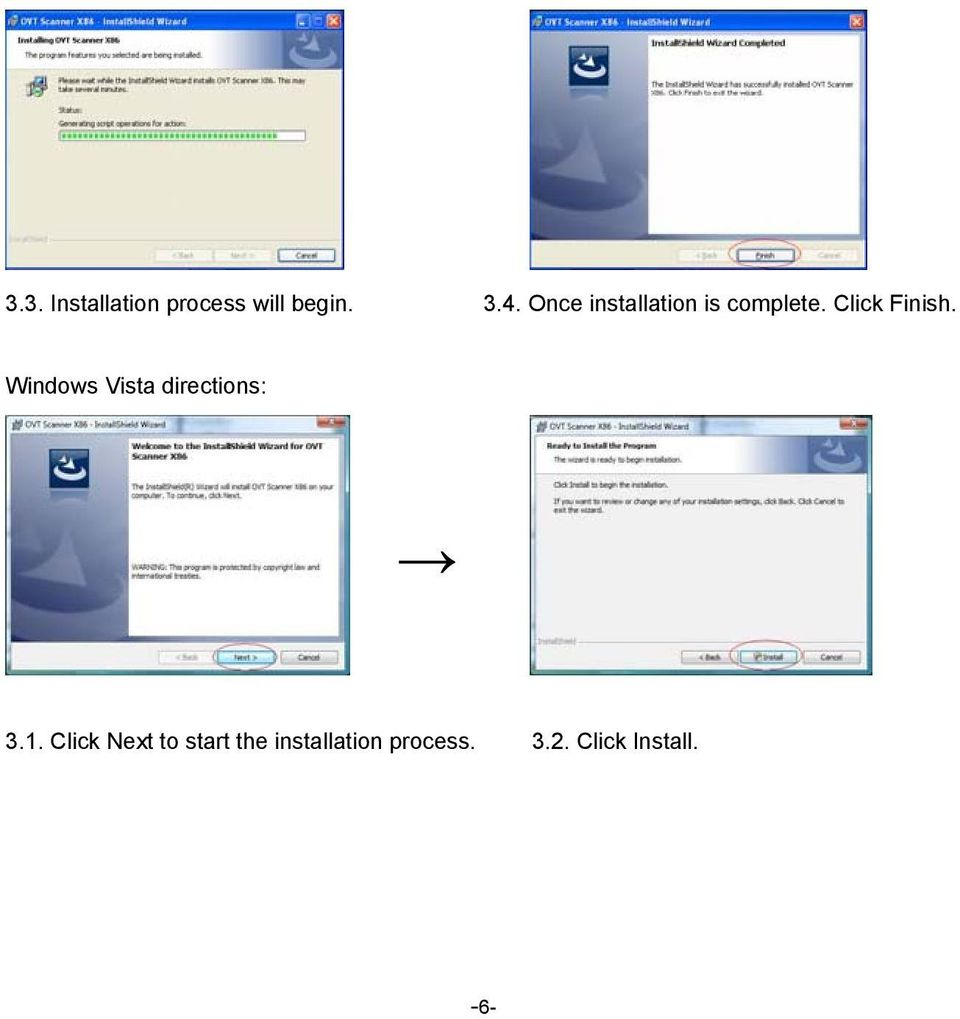 Windows Vista directions: 3.1.