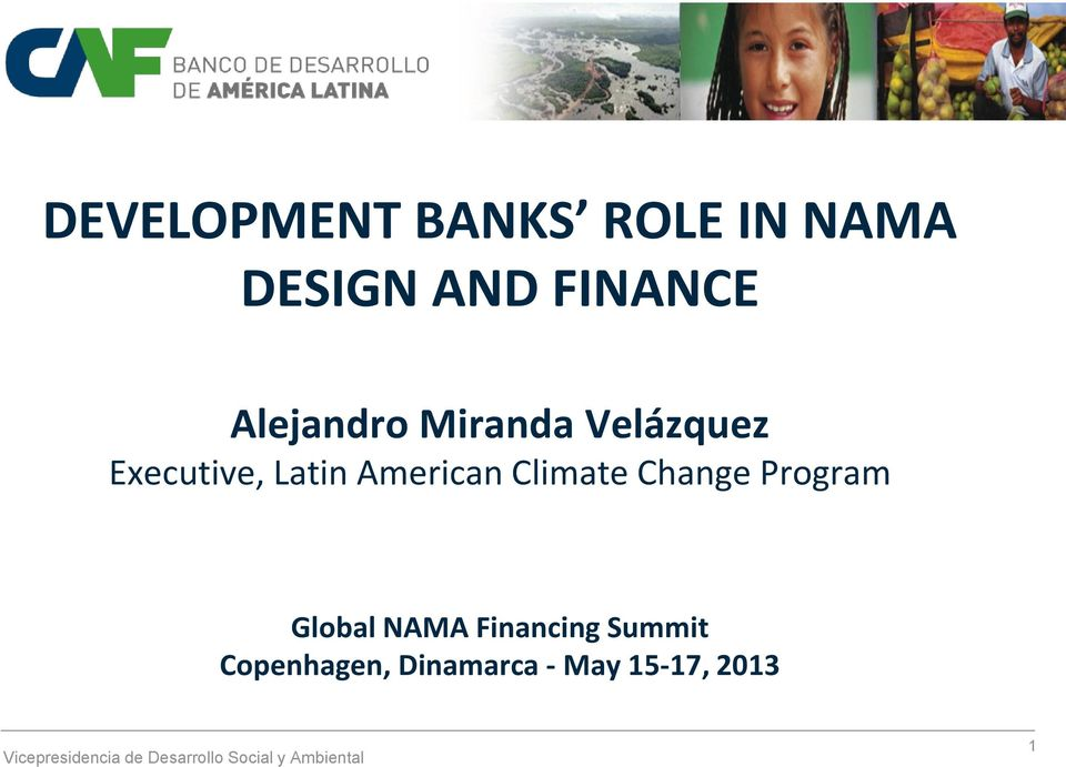 American Climate Change Program Global NAMA