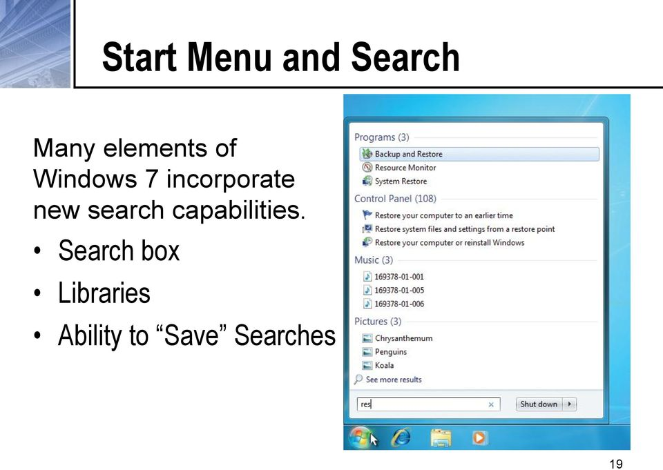 new search capabilities.
