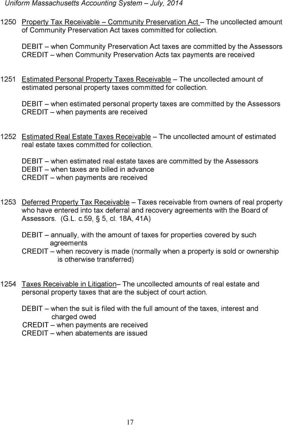 uncollected amount of estimated personal property taxes committed for collection.