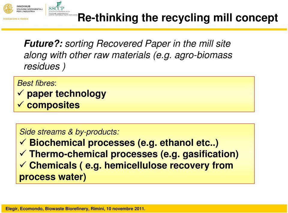 Recovered Paper in the mill site along