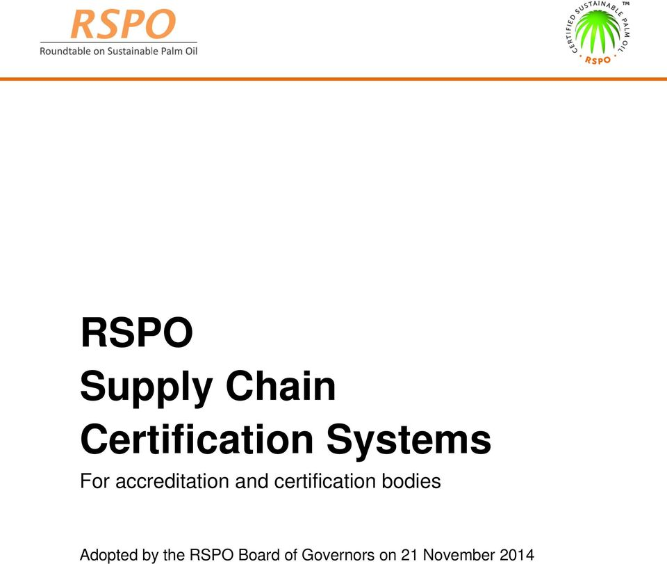 certification bodies Adopted by the