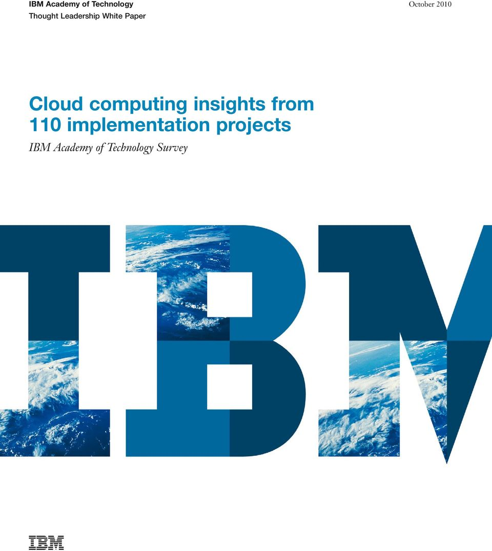 Cloud computing insights from 110