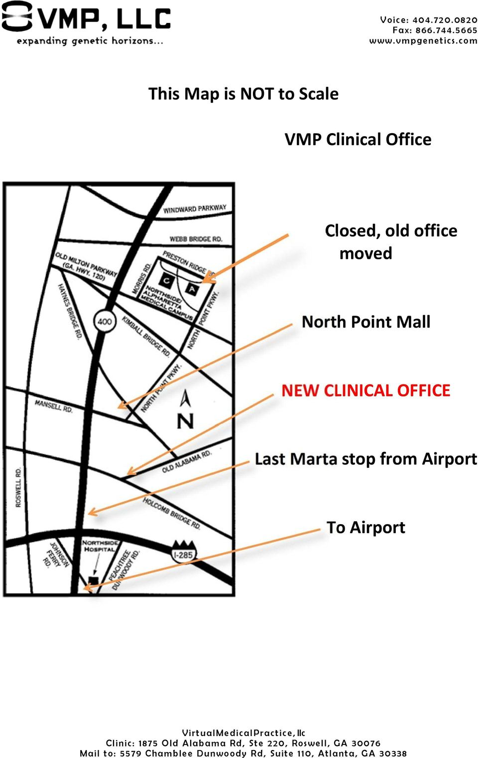 CLINICAL OFFICE Last Marta stop from Airport