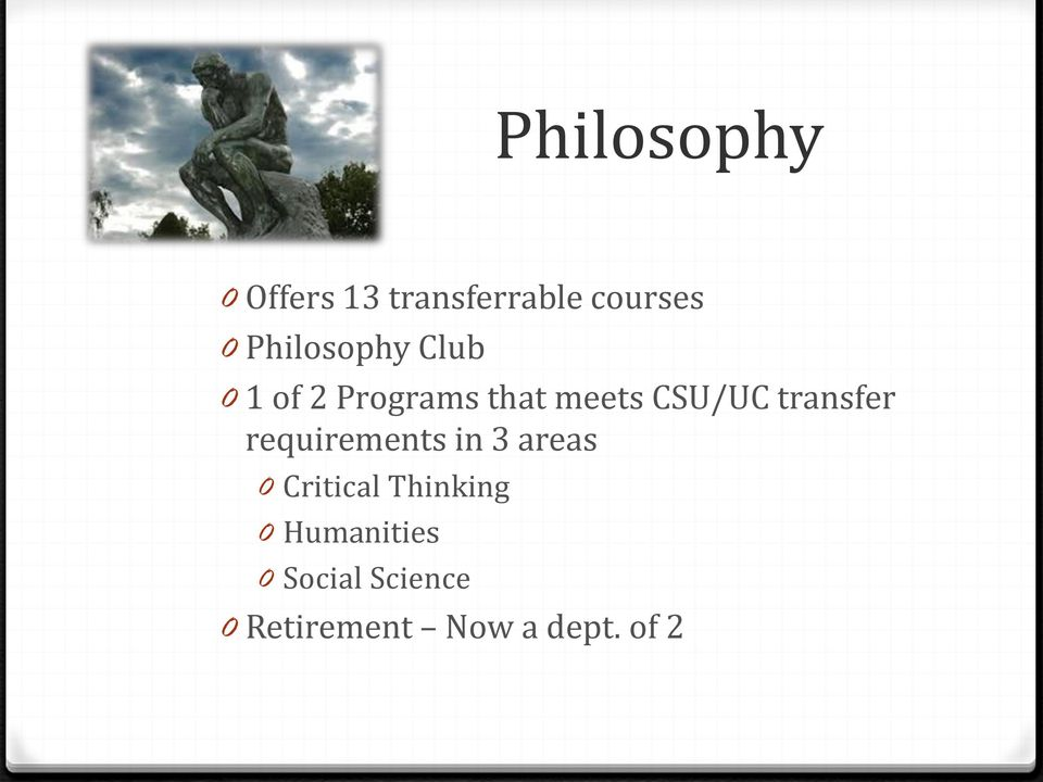 transfer requirements in 3 areas 0 Critical Thinking