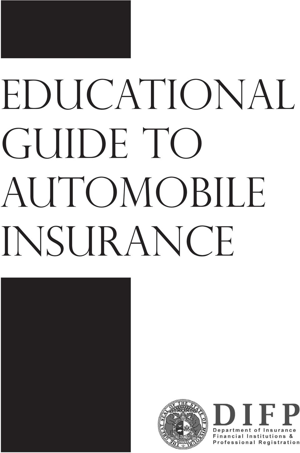 Educational Guide To Automobile Insurance Pdf