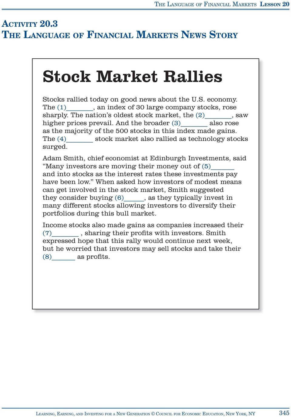 The (4) stock market also rallied as technology stocks surged.