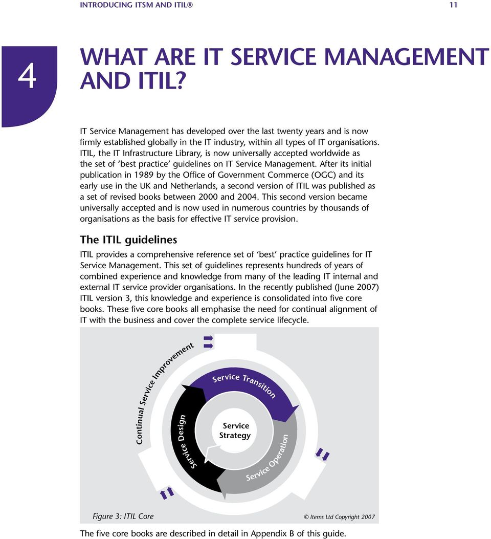 ITIL, the IT Infrastructure Library, is now universally accepted worldwide as the set of best practice guidelines on IT Service Management.