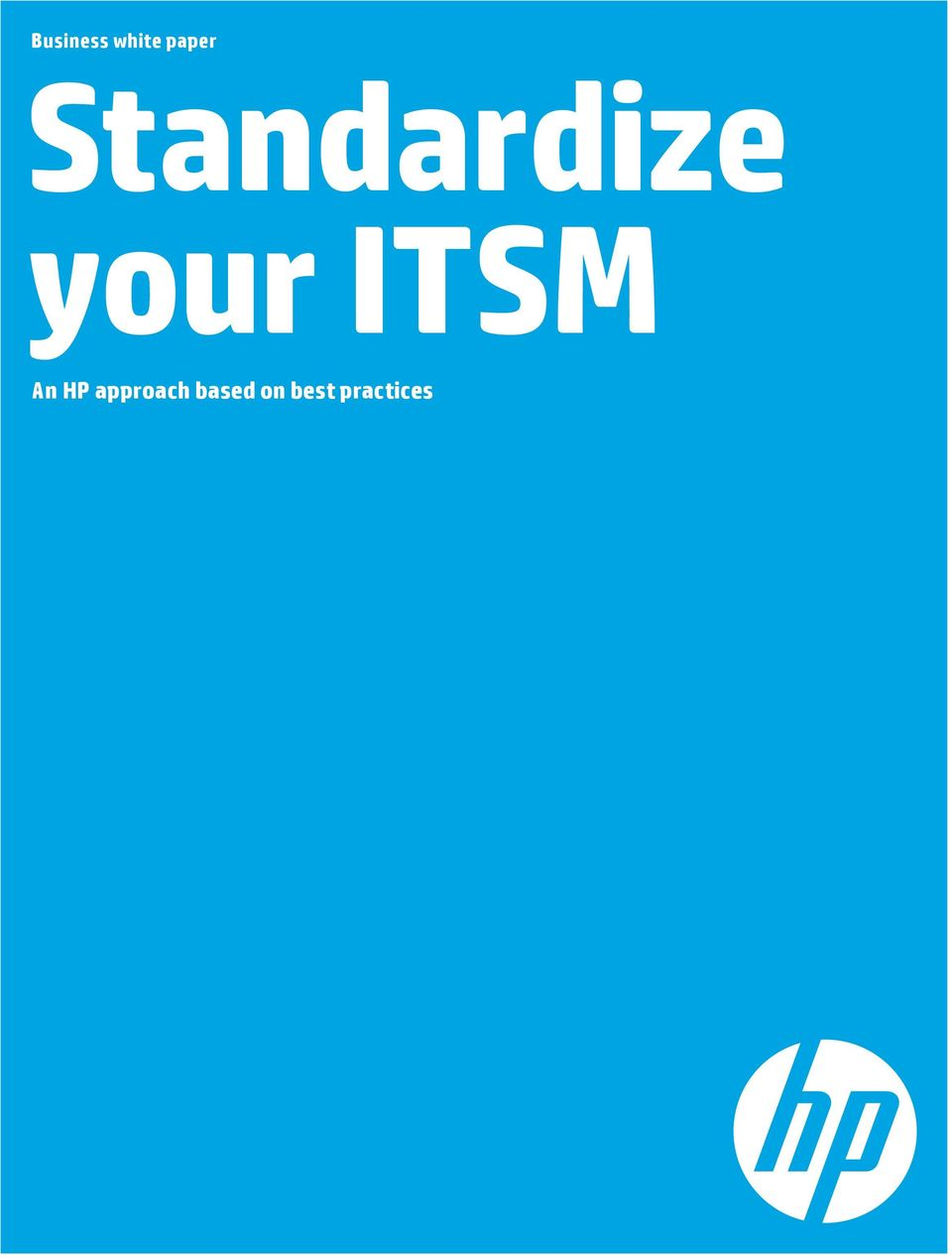 ITSM An HP approach