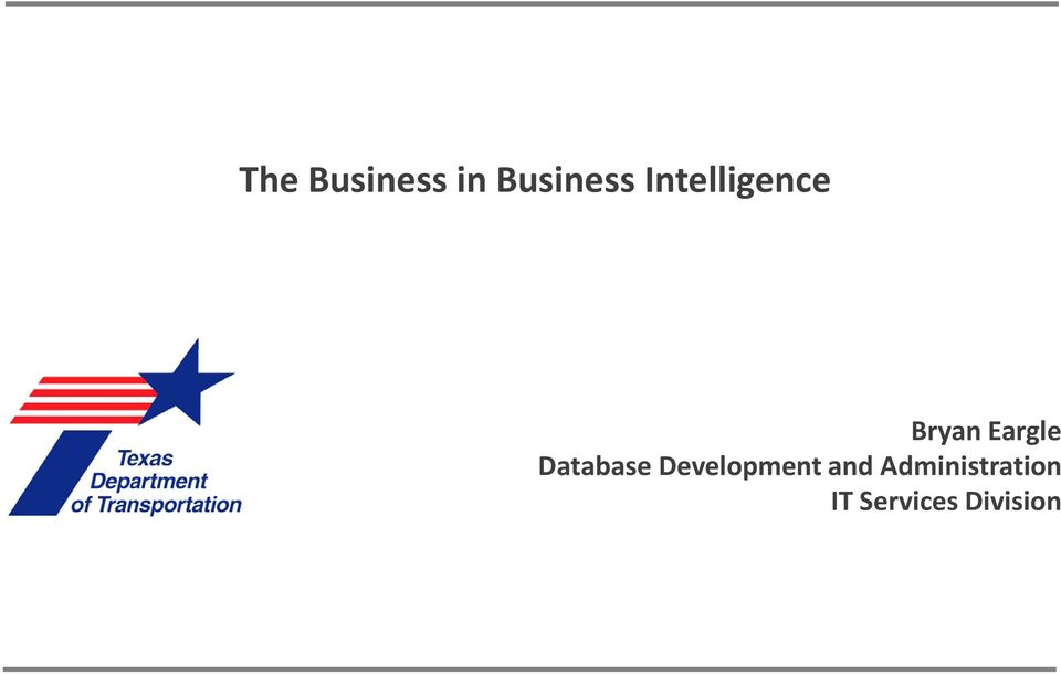 Database Development and