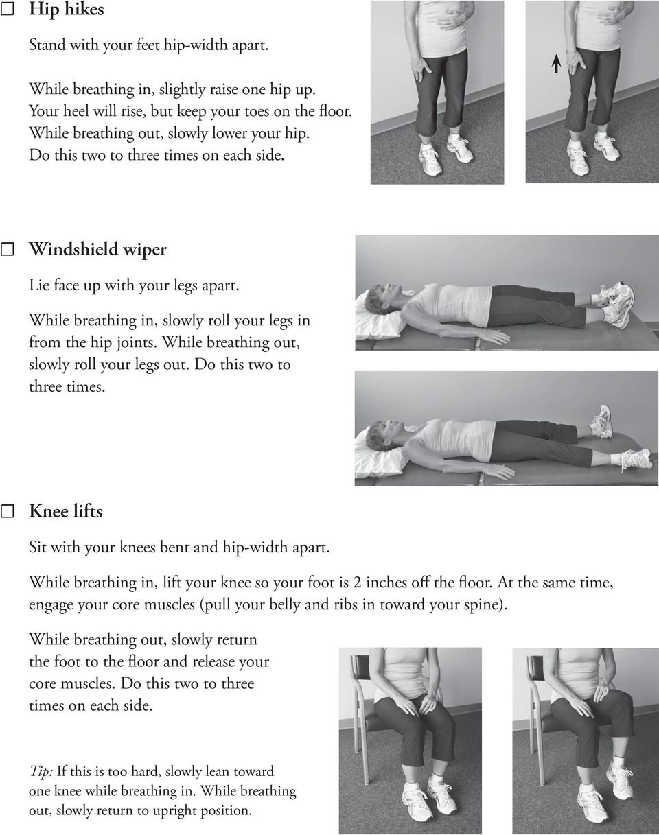 Knee lifts engage your core muscles (pull your belly and ribs in toward your spine).