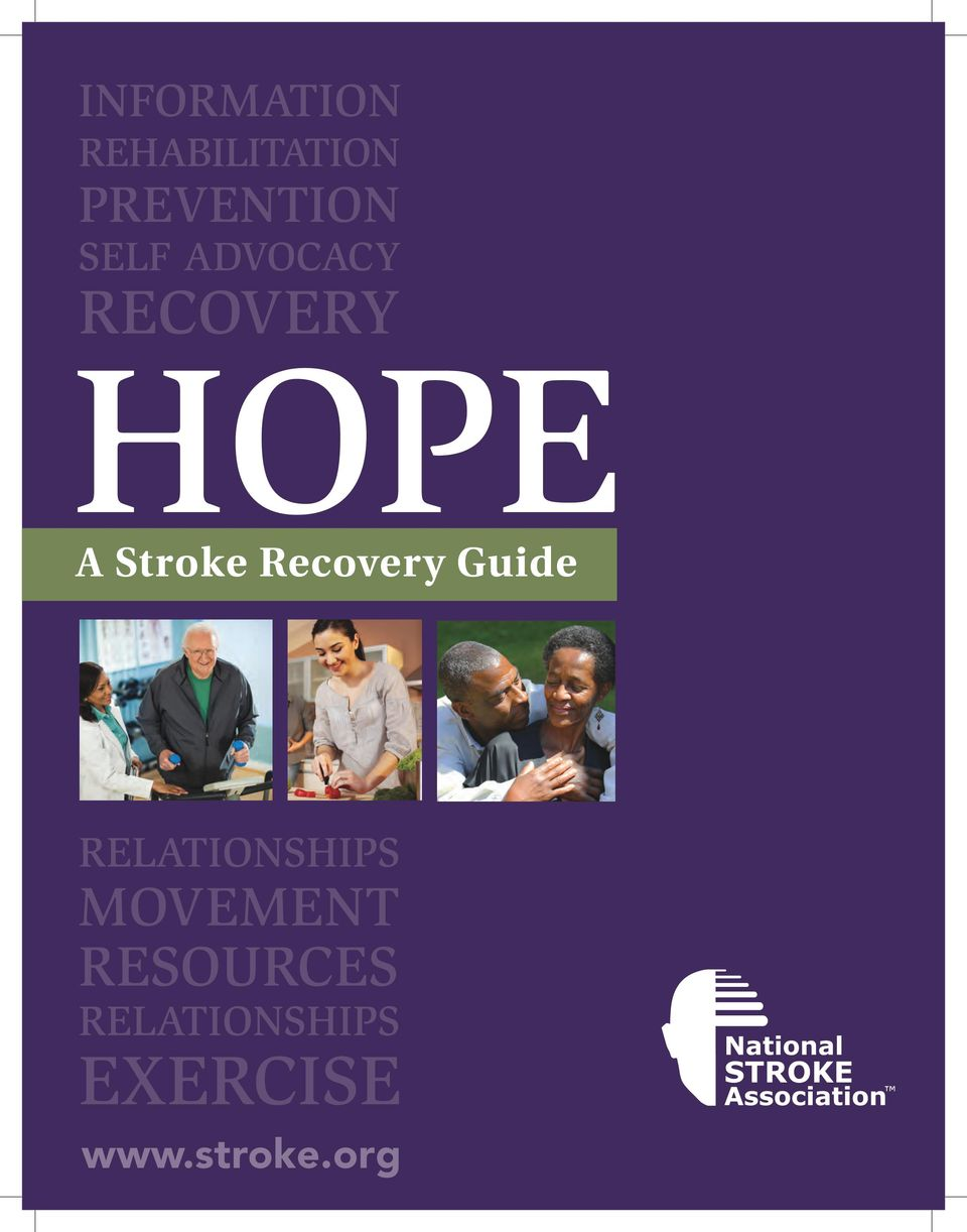 Recovery Guide RELATIONSHIPS MOVEMENT