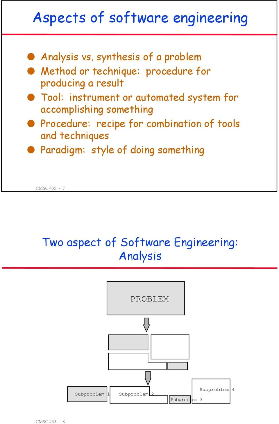 automated system for accomplishing something Procedure: recipe for combination of tools and
