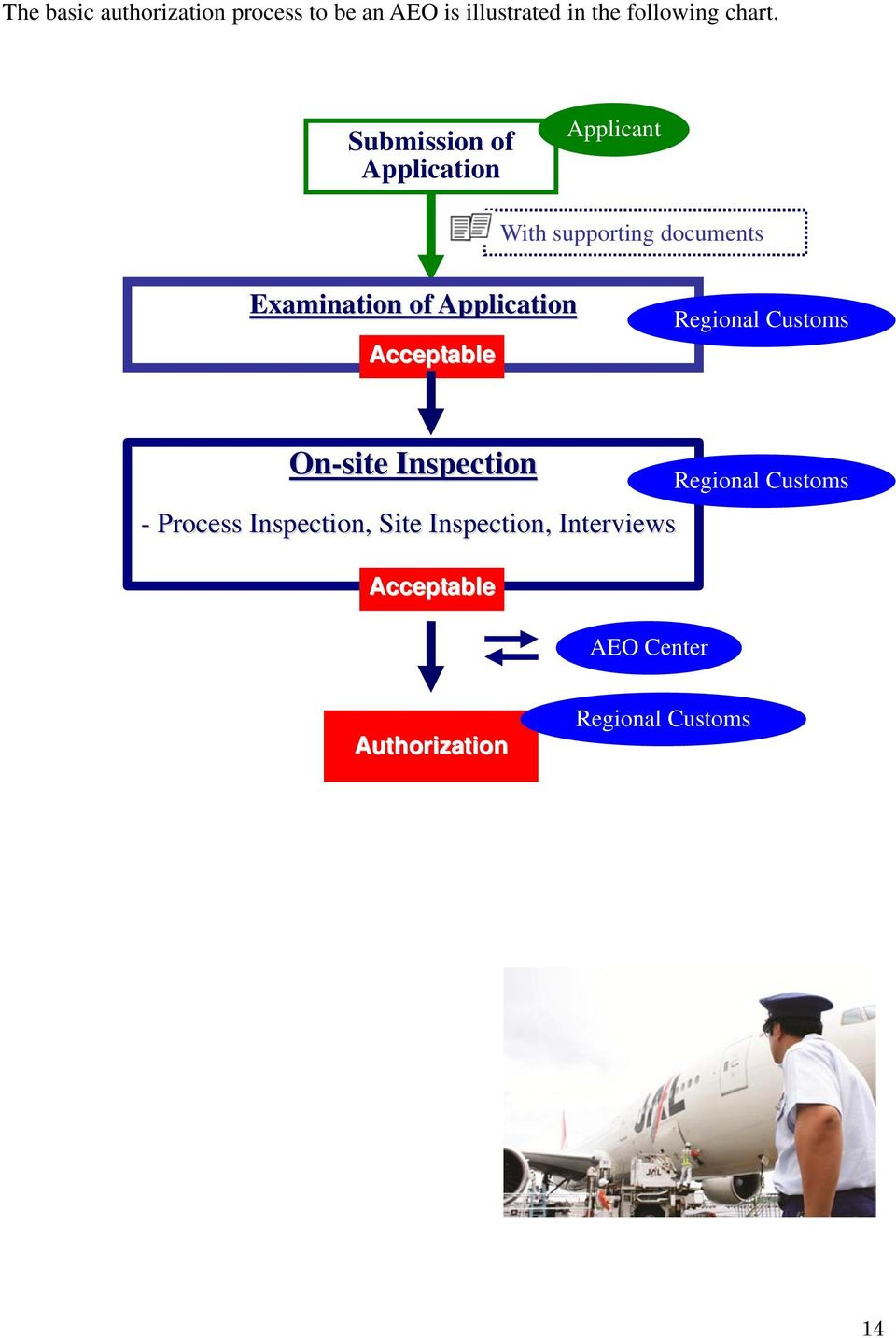 Application Acceptable Regional Customs On-site Inspection - Process Inspection, Site