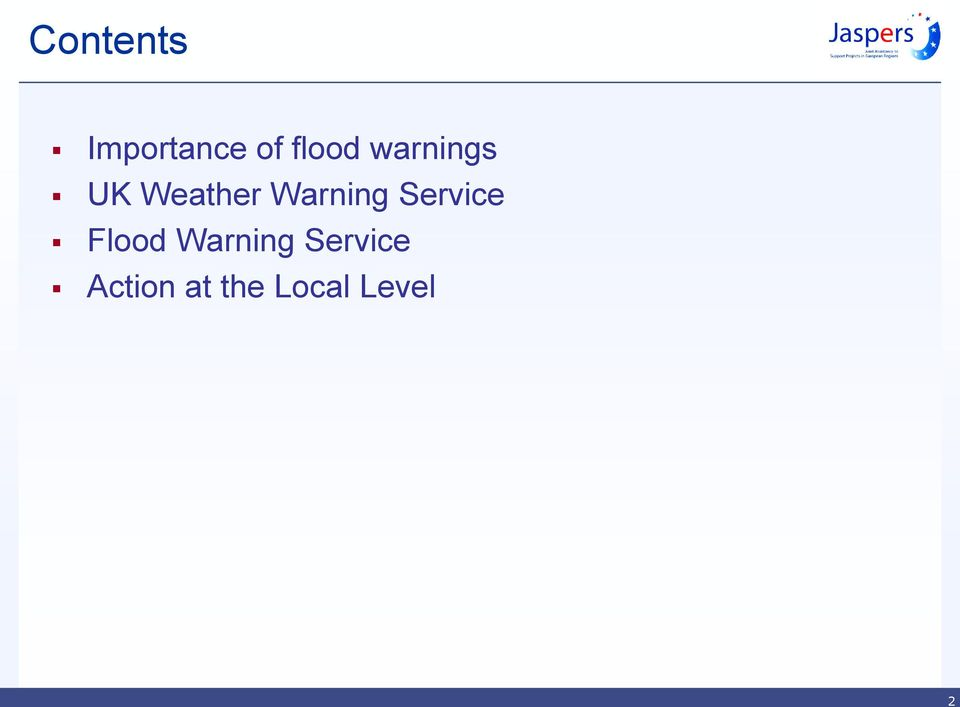 Service Flood Warning
