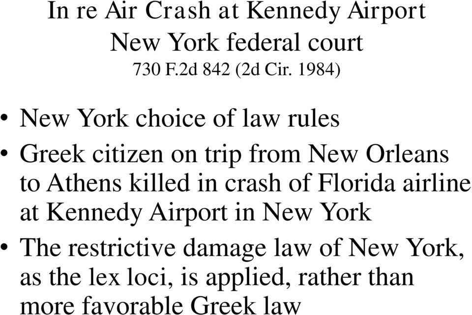 killed in crash of Florida airline at Kennedy Airport in New York The restrictive