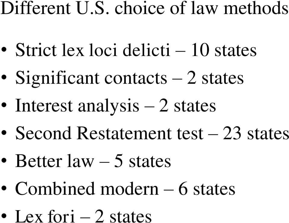 Significant contacts 2 states Interest analysis 2