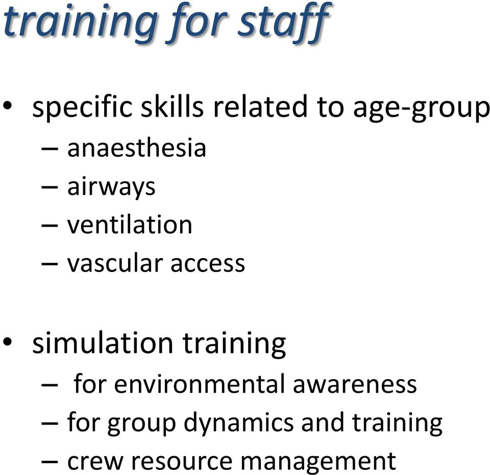 access simulation training for environmental
