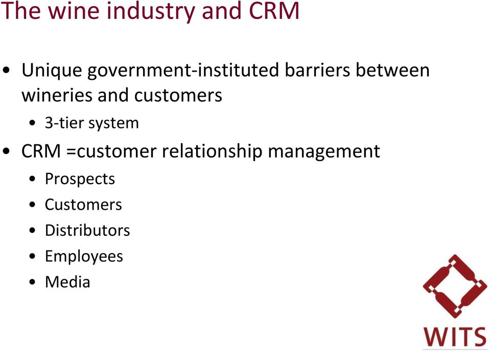 and customers 3-tier system CRM =customer