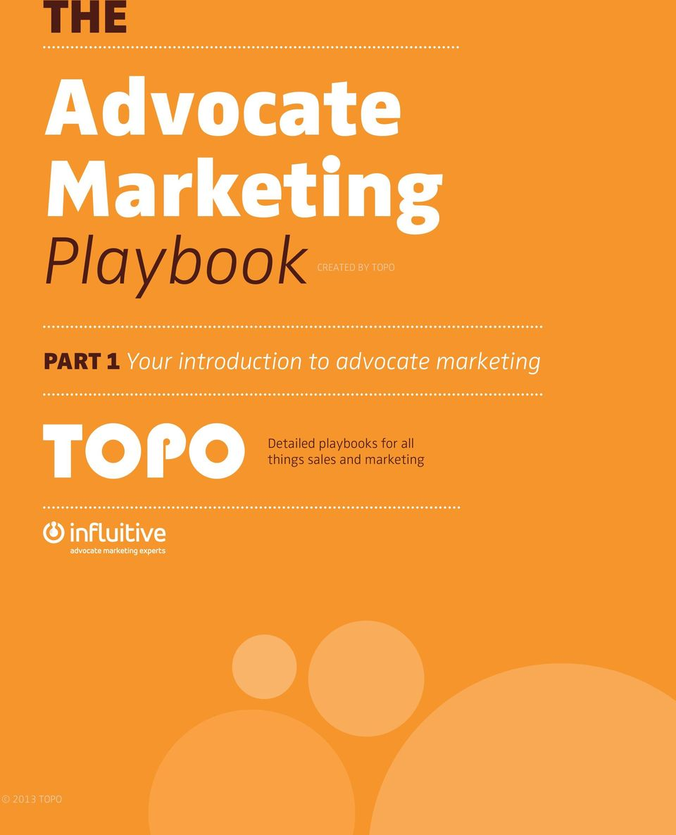 advocate marketing Detailed playbooks