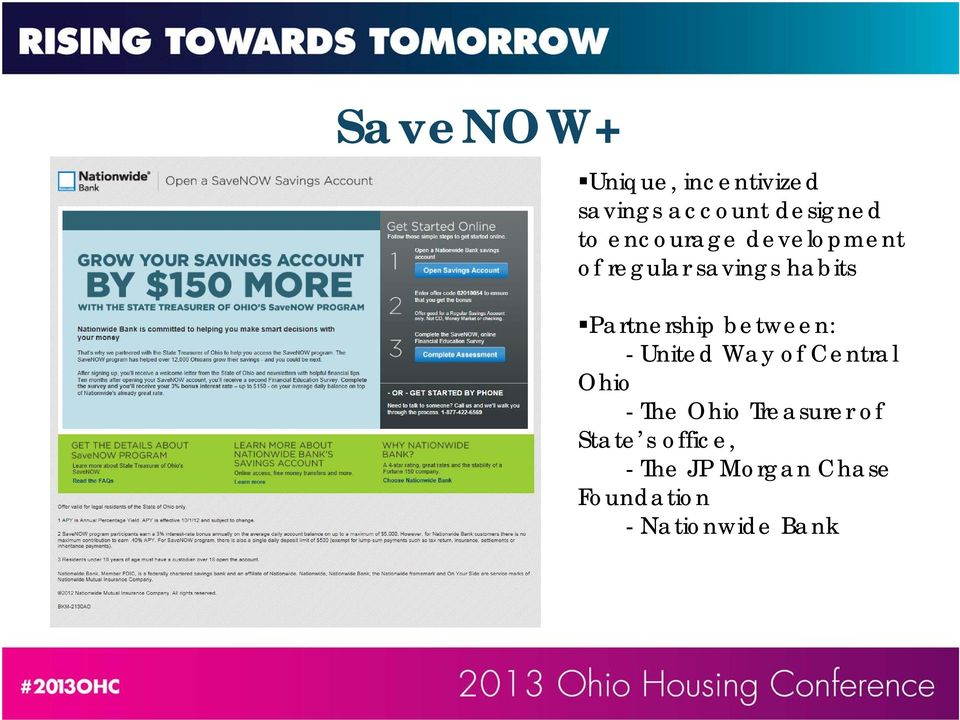 between: - United Way of Central Ohio - The Ohio Treasurer of