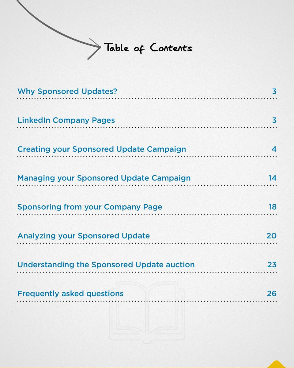 Managing your Sponsored Update Campaign 14 Sponsoring from your