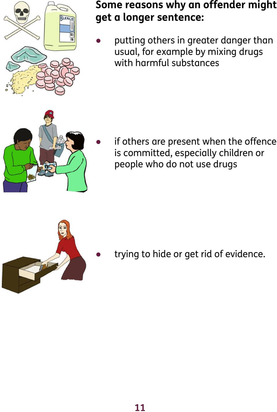 substances if others are present when the offence is committed, especially