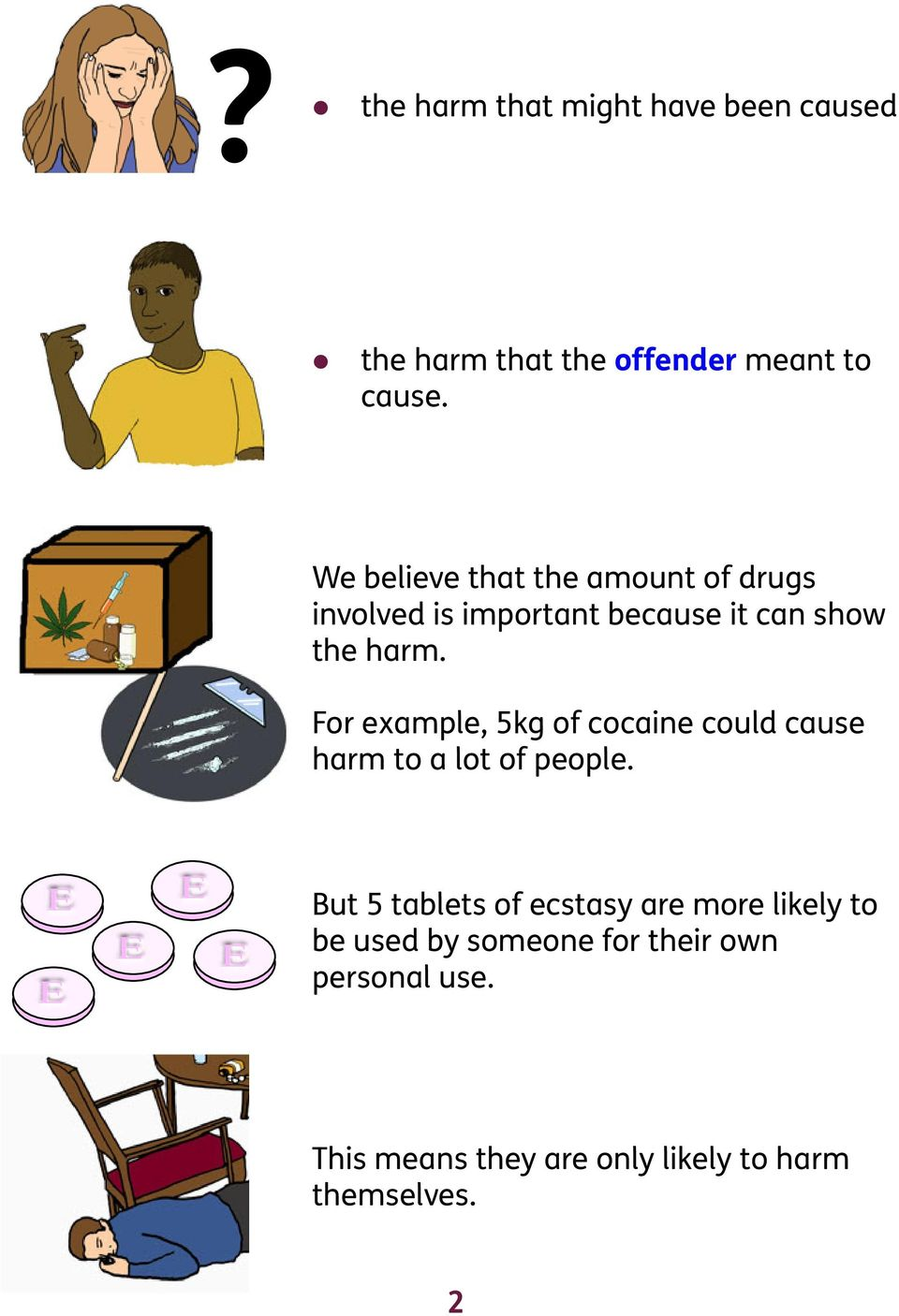For example, 5kg of cocaine could cause harm to a lot of people.