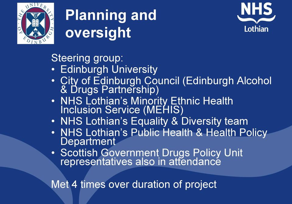 Lothian s Equality & Diversity team NHS Lothian s Public Health & Health Policy Department