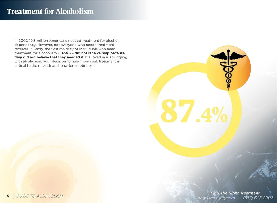 Sadly, the vast majority of individuals who need treatment for alcoholism 87.