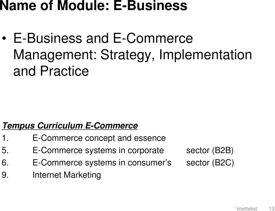 E-Commerce concept and essence 5.
