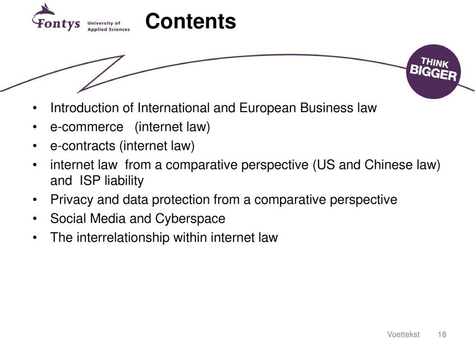 perspective (US and Chinese law) and ISP liability Privacy and data protection