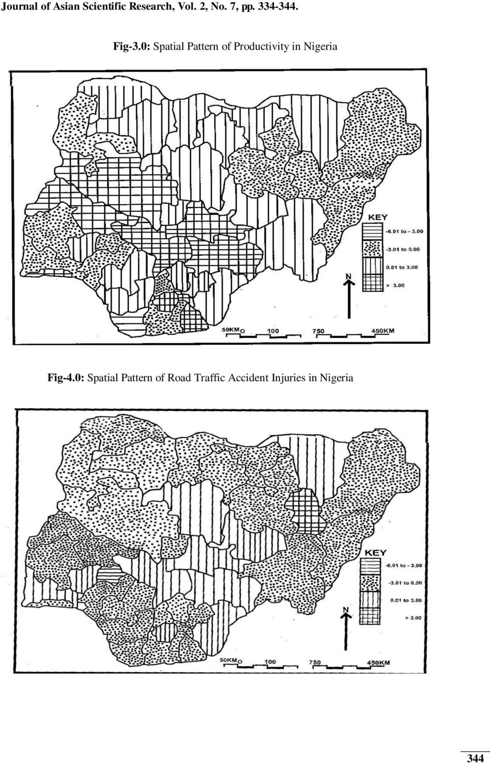 0: Spatial Pattern of Productivity in Nigeria