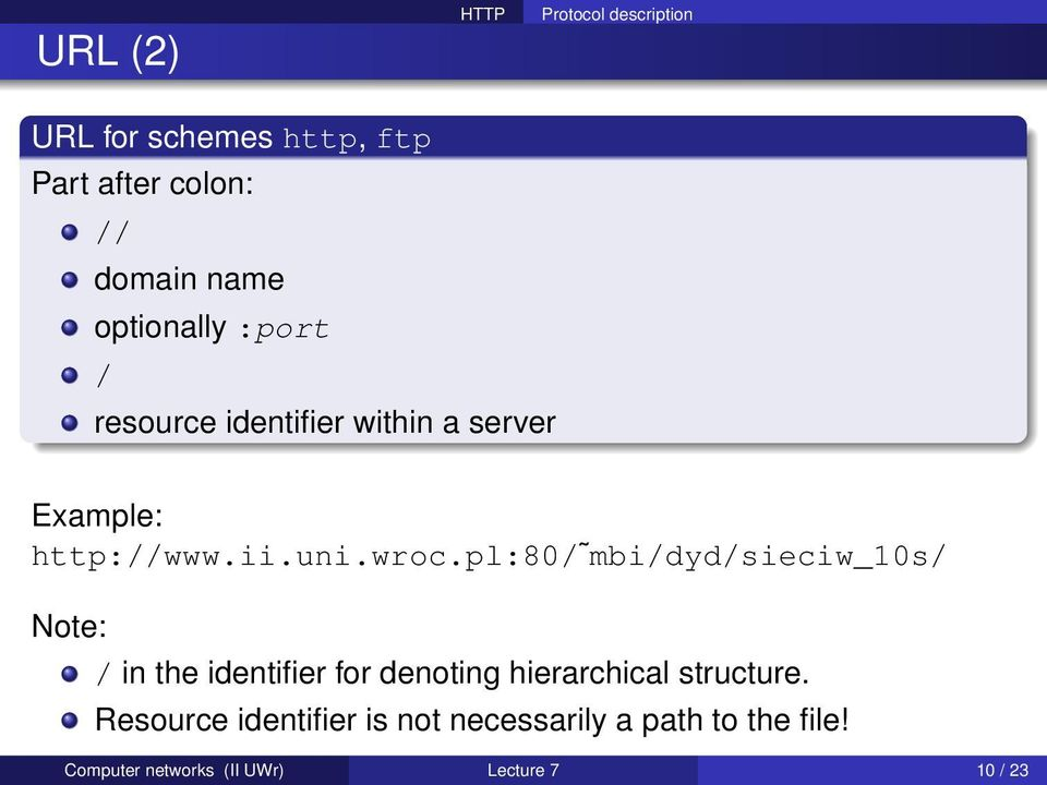 pl:80/ mbi/dyd/sieciw_10s/ Note: / in the identifier for denoting hierarchical